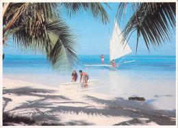 Polynésie Française-TAHITI- BORA-BORA  Matira Beach (pirogue à Voile)(Pacific Promotion Tahiti Photo A-Sylvain 373) - Polynésie Française