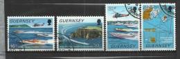 GUERNSEY 1988 - SPEEDBOATS - CPL. SET - USED OBLITERE GESTEMPELT USADO - Bateaux