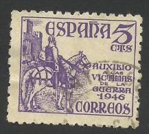 Spain, 5 C. 1949, Sc # RA27, Mi # 48, Used - Bienfaisance