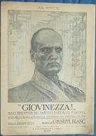 PARTITION PIANO GF MILITARIA AL DUCE MUSSOLINI GIOVINEZZA GOTTA GIUSEPPE BLANC FASCISME SPQR - Militares