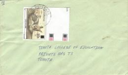 Botswana 1990 Crowe Cape Fox 10t Overprint On 1t Domestic Cover - Botswana (1966-...)