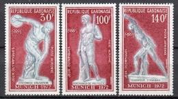 Gabon München Olympic Games MNH Set 1972  (FG1) - Gabón (1960-...)