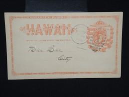 HAWAI -Entier Postal De Honolulu Voyagé En 1890 ( Texte En Chinois Au Verso ) - Pas Commun - à Voir - P7921 - Hawaii