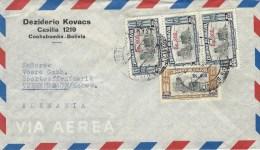 Bolivia 1962 Cochabamba Streetview La Paz Overprints Cover - Bolivië