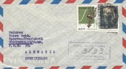 Bolivia 1964 Cochabamba Oil Drilling Silver Mining Minerals Registered Cover - Bolivië