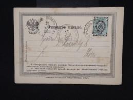 RUSSIE - Carte Pour Thorn En 1862 - Aff Plaisant - à Voir- P7929 - 1857-1916 Imperium