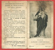 SANTINO - Immaginetta - Holy Card - Preghiera A MARIA AUSILIATRICE - Arcivescovo Fossati 1937 - 6 X 11 PIEGHEVOLE - Devotion Images