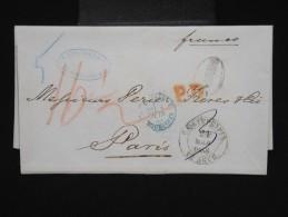 RUSSIE -Lettre ( Avec Texte ) De St Petersbourg Pour Paris En 1868 - à Voir- P7932 - 1857-1916 Imperium