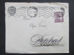 "HRADCANY Hradschin Prraha - Vinohrady 1920 ""zurück"" ///  D*17037 - Briefe U. Dokumente"