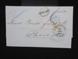 RUSSIE -Lettre ( Avec Texte De Banque ) De St Petersbourg Pour Paris En 1868 - à Voir- P7935 - 1857-1916 Empire