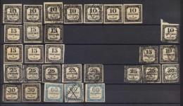 Timbre De Taxe Grand Convolut De 29 Timbres De Tax Français, Ces Timbres Sont Extrêmement Coûteux Timbressi Ce Timbres - Taxes