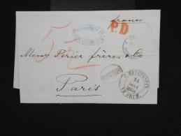 RUSSIE -Lettre ( Avec Texte De Banque ) De St Petersbourg Pour Paris En 1868 - à Voir- P7936 - 1857-1916 Empire