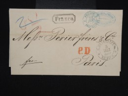 RUSSIE -Lettre ( Avec Texte ) De St Petersbourg Pour Paris En 1866 - à Voir- P7937 - 1857-1916 Imperium