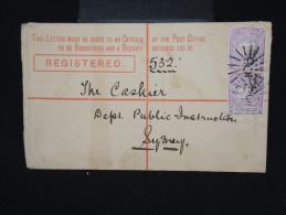 AUSTRALIE -NOUVELLE GALLES DU SUD - Entier Postal +cplt En Recommandé De Rocky Rive Pour Sydney En 1894 à Voir- P7939 - Briefe U. Dokumente