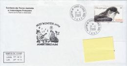 TAAF Enveloppe Martin De Vivies - Amsterdam Mid Winter 2009 (Petrel Plongeur) - Terres Australes Et Antarctiques Françaises (TAAF)