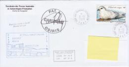 TAAF Enveloppe Port Aux Français Kerguelen Osiris Posté à Bord 2009 (Petrel Des Neiges) - Terres Australes Et Antarctiques Françaises (TAAF)