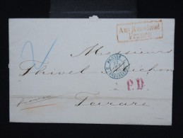 RUSSIE - Lettre ( Avec Texte ) De St Petersbourg Pour Tarare ( France ) En 1864 - à Voir- P7941 - Briefe U. Dokumente