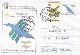 Rumania 1997 Gura Humpback Whale Megaptera Novaeangliae Bird Postal Stationary Cover - Baleines