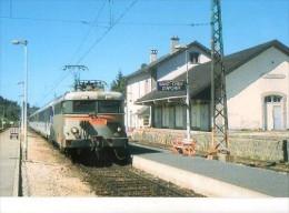 """CP Trains - 48 Lozère - Train Voyageurs Tarcté Par BB 9614 """"L' Aubrac"""" En Gare SNCF De St Chély D'Apcher - Cp N° 534 - Saint Chely D'Apcher"""