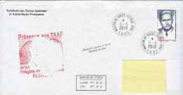 TAAF Enveloppe Martin De Vivies - Frégate De Surveillance Floreal 2010 - Terres Australes Et Antarctiques Françaises (TAAF)