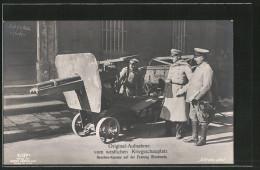 Foto-AK Offiziere Mit Eroberter Revolver-Kanone Auf Der Festung Montmedy - Weltkrieg 1914-18