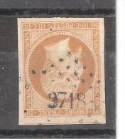 Empire N° 13 B Obl Pc 3718 De BOUGIE , Constantine Algérie, TTB - 1853-1860 Napoléon III