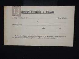 FINLANDE - Entier Postal ( Retour ) Non Voyagé ( Léger Pli ) - à Voir - P7956 - Finland