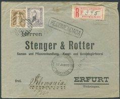 URUGUAY TO GERMANY ROSARIO Cancel - Registered Cover 1902 - Uruguay