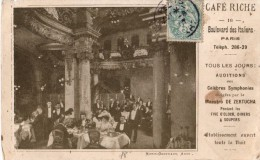Café RICHE - 16 Boulevard Des ITALIENS - Paris - Symphonies - Flyer - Morin Goustiauux Arch. - - Publicité