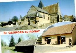 Belle  Carte  Cpsm   -    St Georges Du Rosay  -  L 'Eglise ,le Lavoir             N516 - Autres Communes