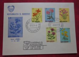 COVER Brief 1971 SAN MARINO FDC FLOWERS Blumen Briefmarke - FDC