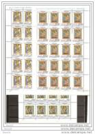 1989 Vaticano Vatican VISITAZIONE 20 Serie Di 3v. In Foglio MNH** Sheet - Nuovi