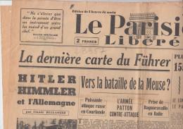 RT28.357  JOURNAL LE PARISIEN LIBERE.23 DECEMBRE 1944.VERS BATAILLE DE LA MEUSE. HITLER  HIMMLER ET L'ALLEMAGNE - Journaux - Quotidiens