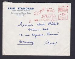 Courrier ESSO STANDARD Paris VIII Adressé à Louis Thiriot à Commercy Contenant Deux Tracts Et Une Carte De Visite - 1921-1960: Période Moderne