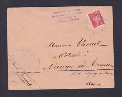Petain 1 F Enveloppe Portant Cachet De La Mairie De Domremy Aux Bois à M.Thiriot Notaire à Nancois Sur Ornain 1941 - Marcophilie (Lettres)