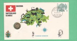 FDC Svizzera Schweiz Helvetia  1984 Filagrano + 5 Rappen 1981 - FDC
