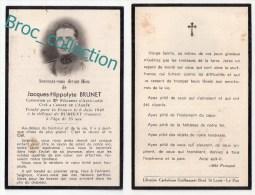 Drils De Dienne, Rumigny, Mémento De Jacques-Hippolyte Brunet, Mort Pour La France 6/06/1940, Militaire, Guerre - Images Religieuses