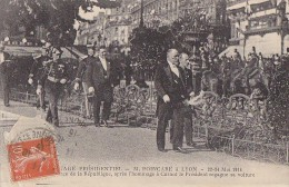 Lyon 69 - Voyage Présidentiel 1914 - Mr Poincaré -  Voiture Attelage - Lyon