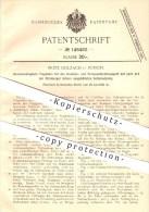 Original Patent - Fritz Holzach In Zürich , 1902 , Tragbahre , Bahre , Krankentransport , Krankenhaus , Krankenwagen !!! - Documents Historiques