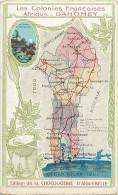 Pays Divers- Afrique -ref D786- Carte Geographique -geographie - Les Colonies Francaises - Le Dahomey -carte Bon Etat  - - Dahomey