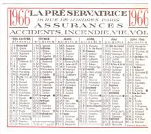Petit Calendrier LA PRESERVATRICE (assurances) 1966 (PPP259) - Petit Format : 1961-70