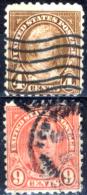 Stati-Uniti-0163 - 1923-26 - Unificato N.402, 407 (o) - Privi Di Difetti Occulti. - Vereinigte Staaten