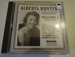 Alberta Hunter - Complete Recorded Works In Chronological Order Vol.1,2 & 3 - Document  Docd5422,5423 & 5424 - Blues