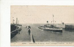 """Dieppe - Entrée Du Port Du Steamer """"sussex"""" De Dieppe à Newhaven - 1915 - Dieppe"""