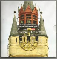 BELGIQUE BELGIO DIVIS.FDC LE CAMPANE - LES BEFFROIS  2008 8 Val. + Med. Con Monete RARE - Belgio
