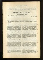 - TABLES DE NUIT HYGIENIQUES . BREVET D´INVENTION DE 1902 . - Mobili