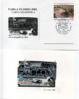 CENTENARIO TARGA FLORIO FDC CON CARTA TELEFONICA INTERCALL 2002 - Automobilismo