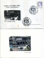 CENTENARIO TARGA FLORIO 2006 BUSTA NON VIAGGIATA CONTENENTE CARTA TELEFONICA ALFA ROMEO 33 VACCARELLA TIRATURA LIMITATA - Automobilismo