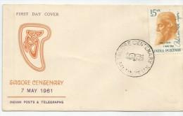 1961 INDIA, SOBRE PRIMER DIA - INDIA - FDC
