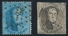 STAMPS   BELGO - BELGIUM - BELGIE -BELGIQUE  1849 /1865  KING LEOPOLD 10 & 20C USED - 1849-1850 Medallones (3/5)